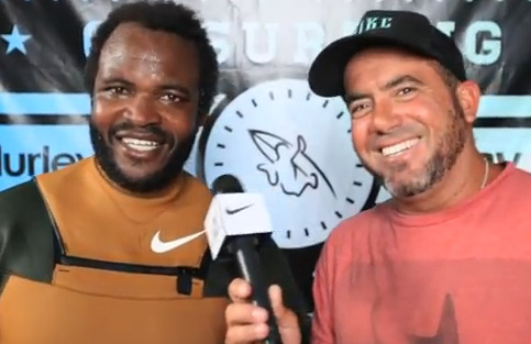 Sal Masekela on his Post Heat Win | U.S. Open of Surfing 2012