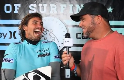 Timmy Reyes Post Heat Win Equipment Talk Round 4 | U.S. Open of Surfing 2012
