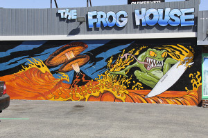 The Frog House, bright and bold off the Pacific Coast Highway in Newport Beach.