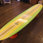A Hobie orginal foam surfboard from 1965.