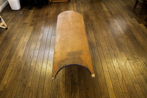 This is an example of the 1st wood planks the Hawaiian's used for flotation and paddling through the ocean.