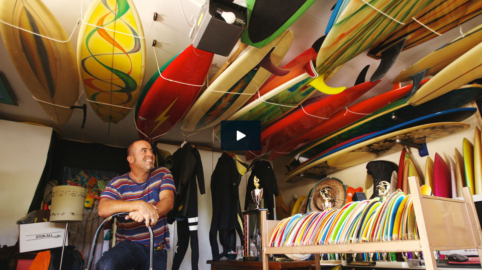 "Surfboard collector Mark ""Buggs"" Arico discusses a few of his prized possessions on Surfermag.com"